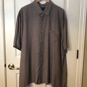 Nat Nast Geometric Box Print Short Sleeve 2XL
